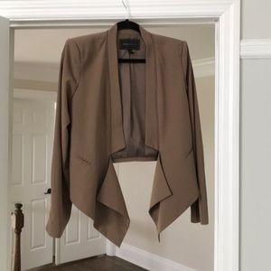 Bcbg collarless blazer